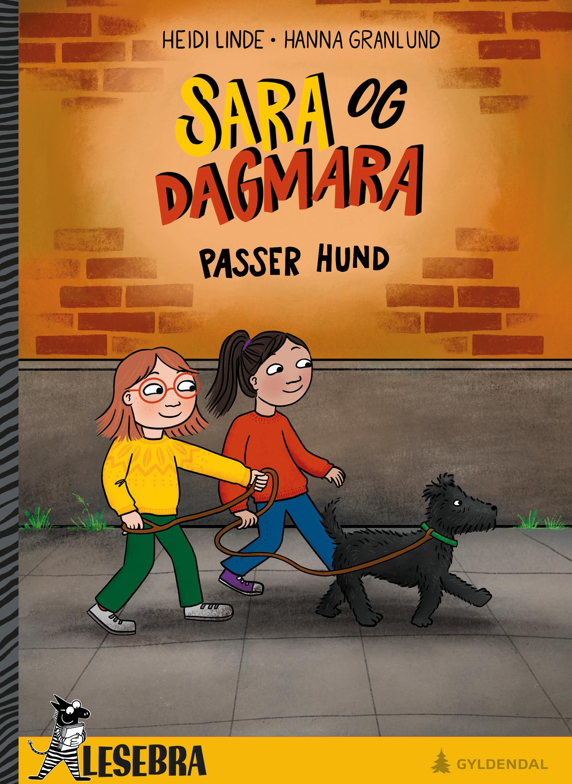 Sara og Dagmara passer hund